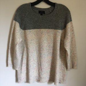 J. Crew cashmere blend confetti colorblock sweater